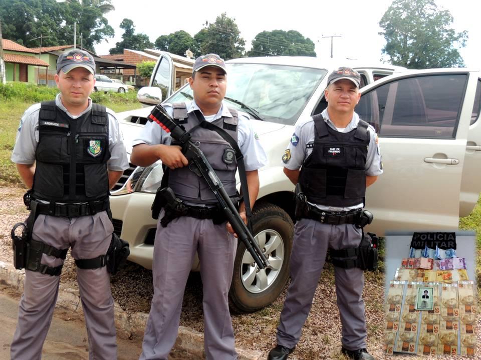 SD PM Andrade, SD PM W.Reis e o CB PM Figeuiredo