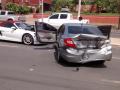 Porsche, BMW e Civic se acidentam em avenida de Cuiabá neste domingo