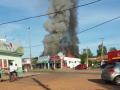 Quatro pessoas ficam feridas durante incêndio em padaria em Nobres