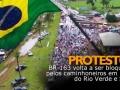 BR-163 volta a ser bloqueada pelos caminhoneiros em Lucas do Rio Verde e Sinop
